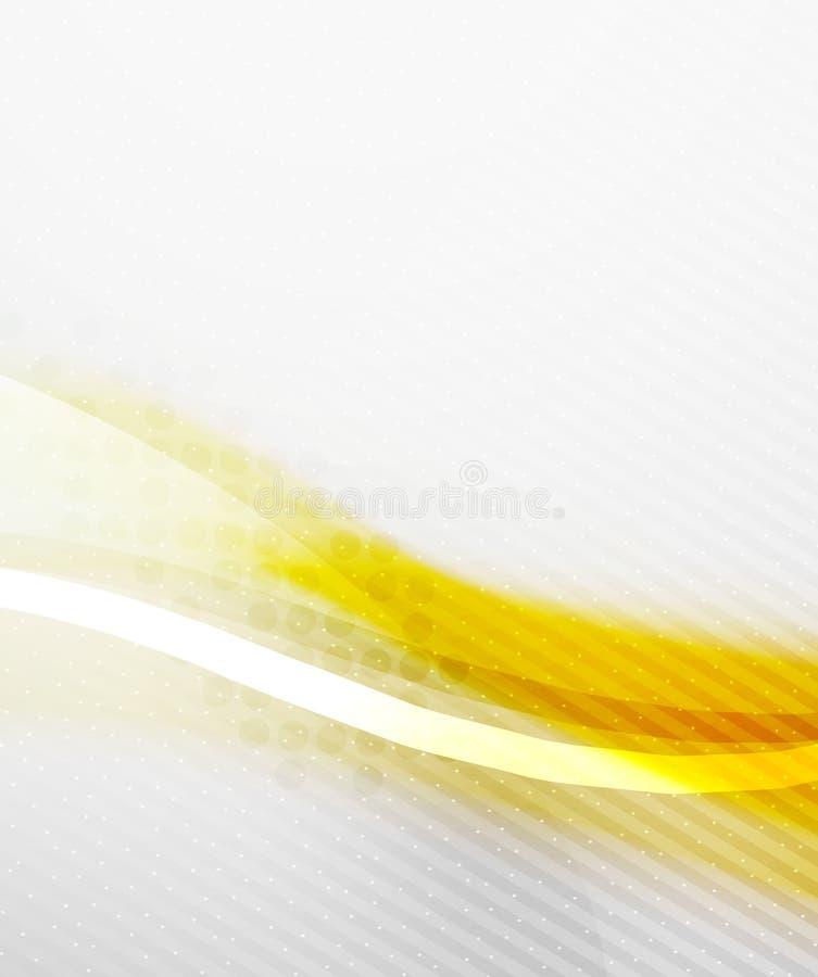 Fundo abstrato - onda borrada brilhante amarela ilustração do vetor