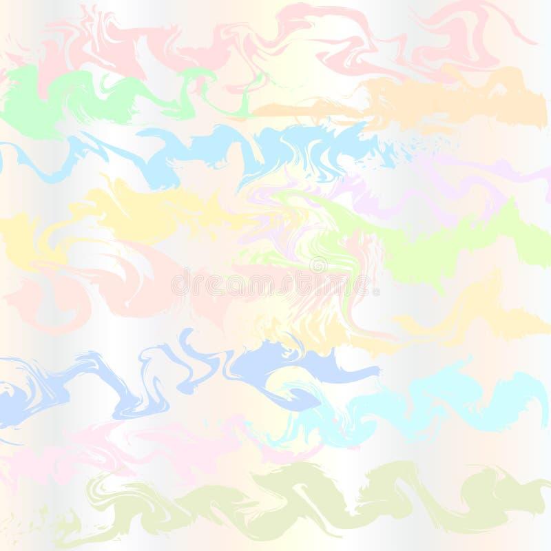 Fundo abstrato, ondas pasteis coloridas Vetor ilustração stock