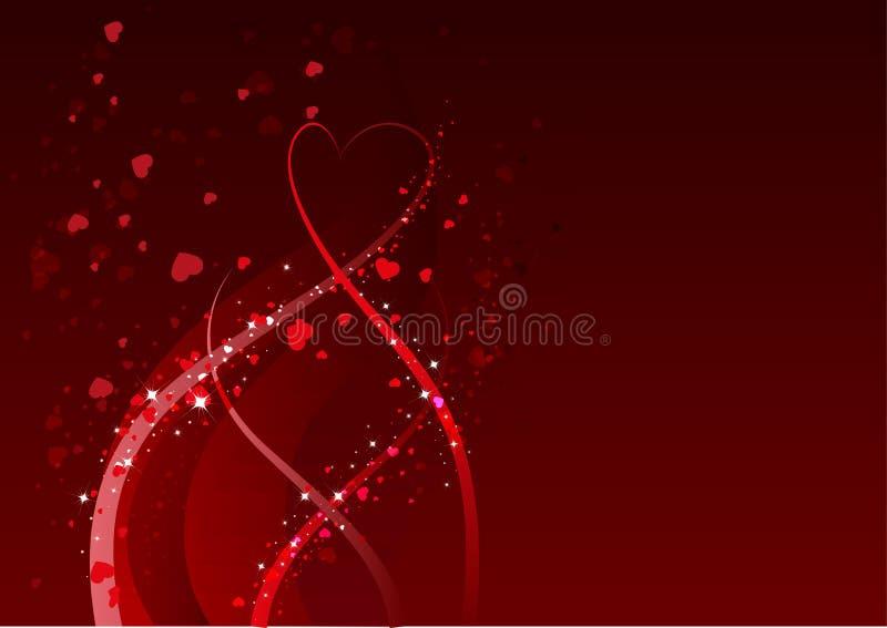 Fundo abstrato para o dia de Valentim Símbolo vermelho do coração do amor ilustração do vetor