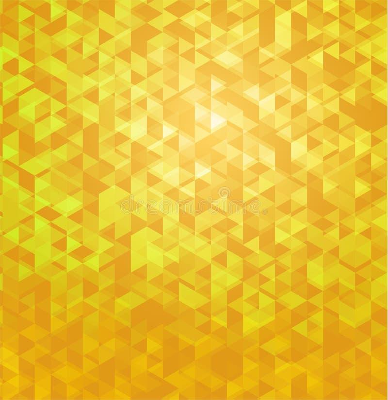 Fundo abstrato poligonal geométrico amarelo ilustração stock