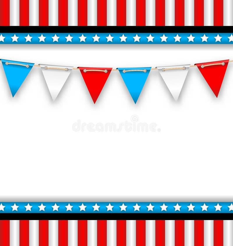 Fundo abstrato por feriados nacionais dos EUA ilustração stock