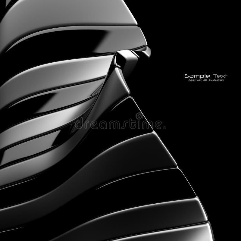 Fundo abstrato preto ilustração stock