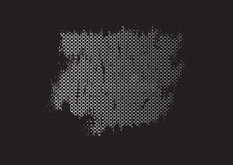 Fundo abstrato preto com escuro - hexágonos cinzentos Textura do grunge da bandeira Quadro do molde Lugar para seu texto Vetor ilustração royalty free
