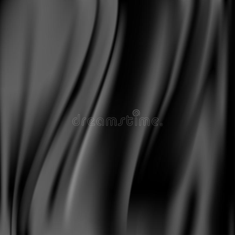Fundo abstrato preto da cortina do cetim ilustração do vetor