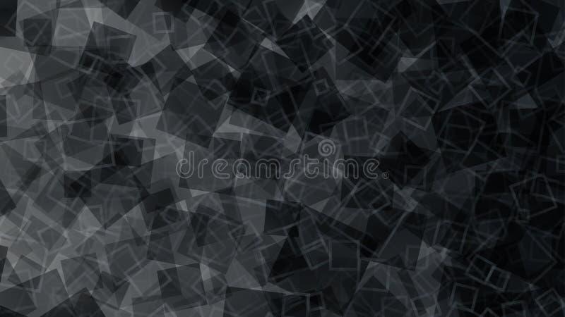 Fundo abstrato preto dos quadrados ilustração do vetor