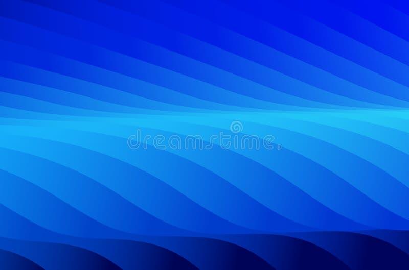 Fundo abstrato preto e azul ilustração stock
