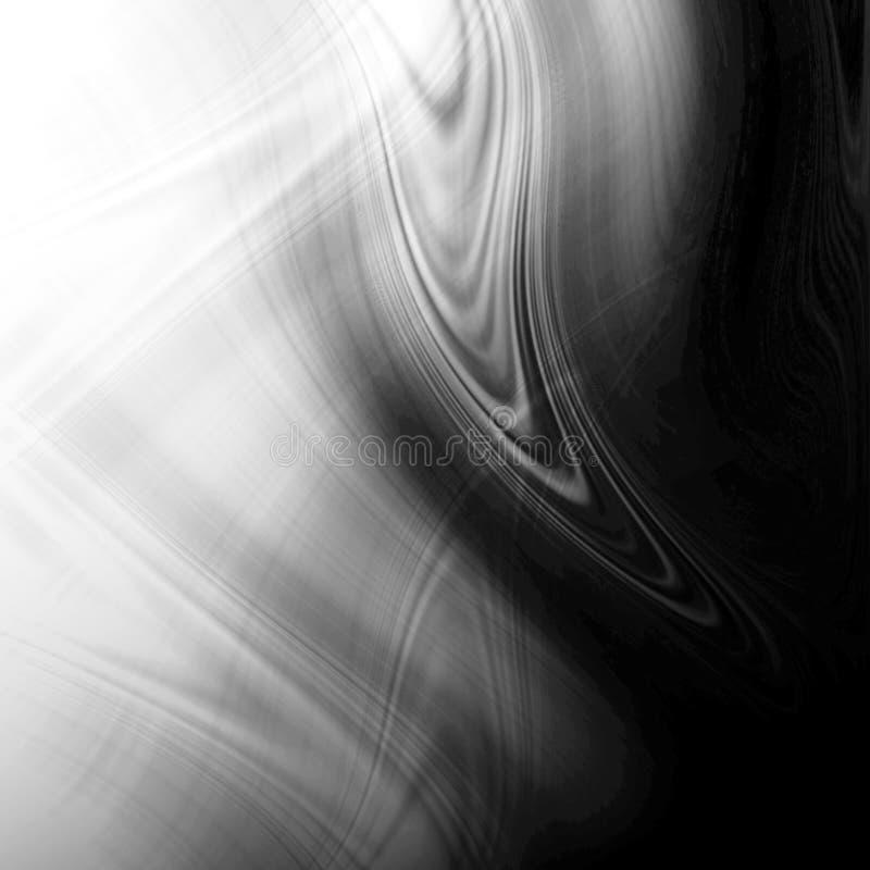 Fundo abstrato preto e branco ilustração royalty free