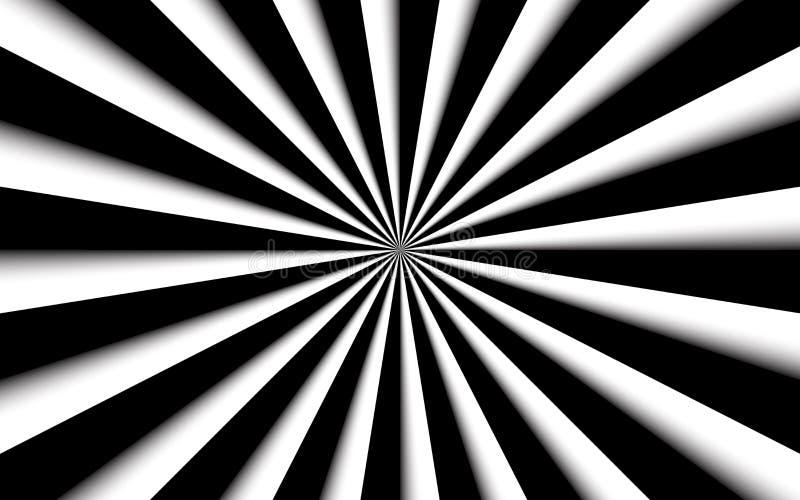 Fundo abstrato preto e branco, linhas preto e branco, teste padrão brilhante ilustração do vetor