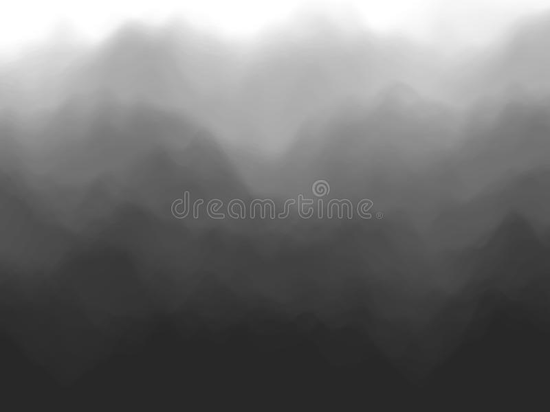 Fundo abstrato preto Efeito da névoa ou do fumo ilustração royalty free