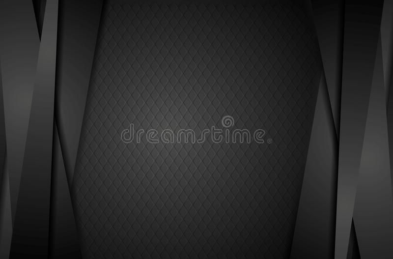 Fundo abstrato preto incorporado com listras ilustração do vetor