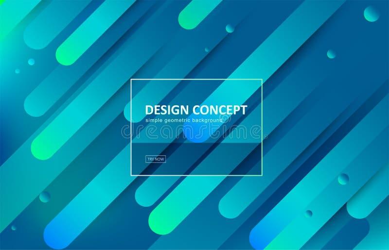 Fundo abstrato, projeto geométrico do vetor do inclinação Teste padrão gráfico no estilo mínimo Contexto dinâmico do movimento co ilustração stock