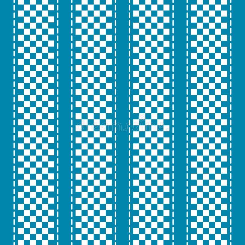 Fundo abstrato quadriculado azul e branco ilustração do vetor
