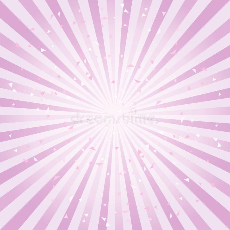 Fundo abstrato riscado A violeta roxa macia irradia o fundo Vetor ilustração royalty free