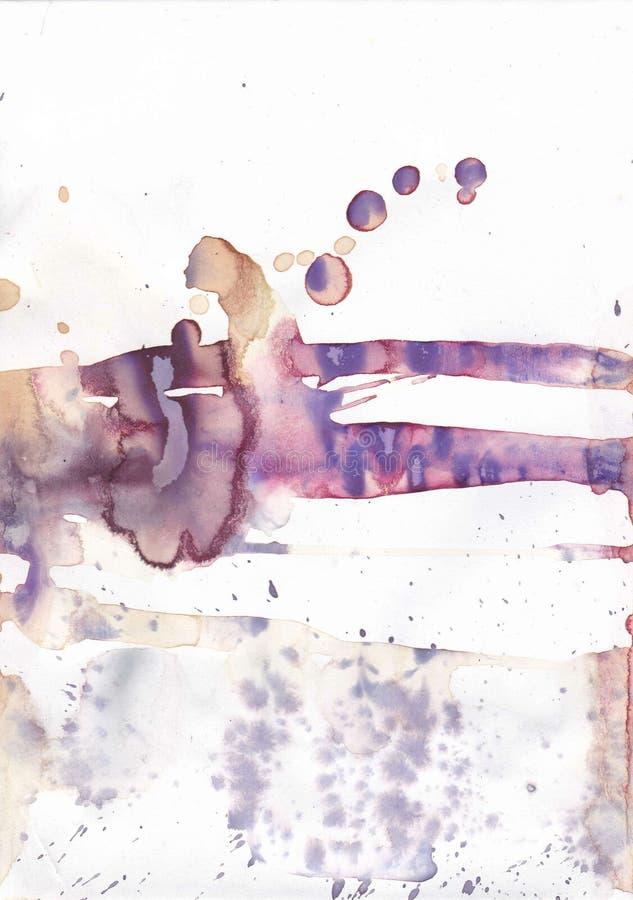 Fundo abstrato roxo e do ocre da aquarela ilustração do vetor