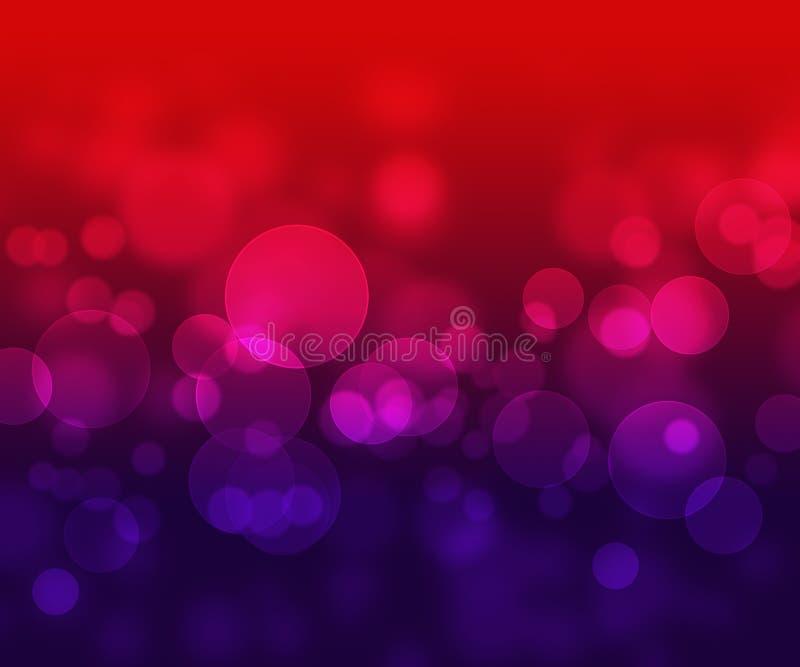 Fundo abstrato roxo vermelho com bokeh claro ilustração royalty free