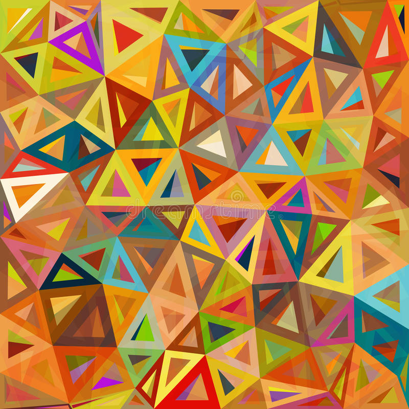Fundo abstrato sarapintado do vetor dos triângulos ilustração stock