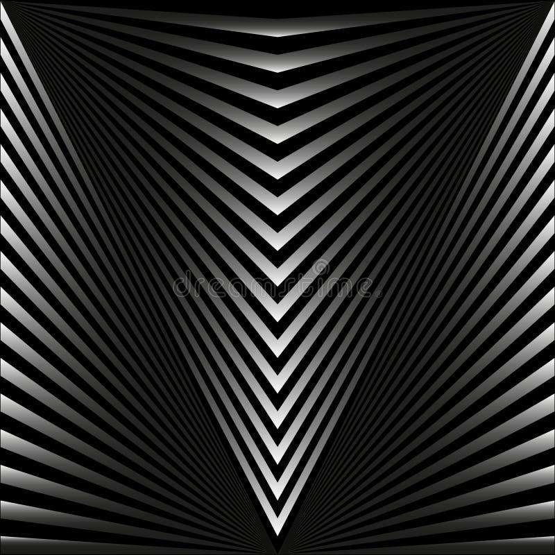Fundo abstrato sem emenda sob a forma dos raios e das listras cinzentos ilustração stock