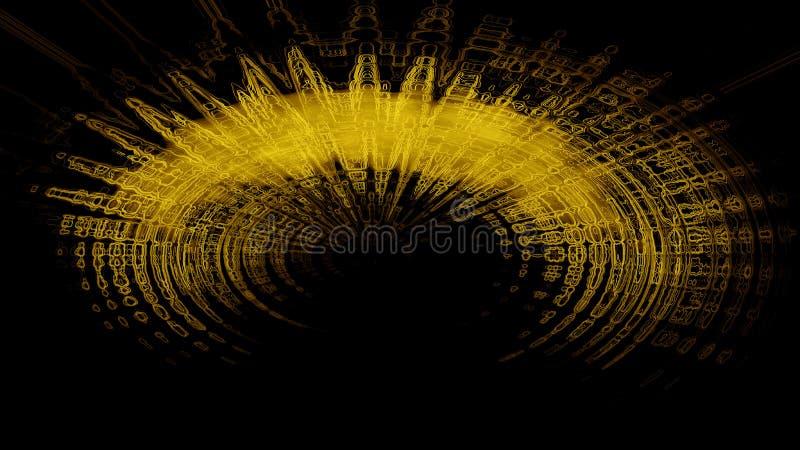 Fundo abstrato semicircular do ouro ilustração royalty free