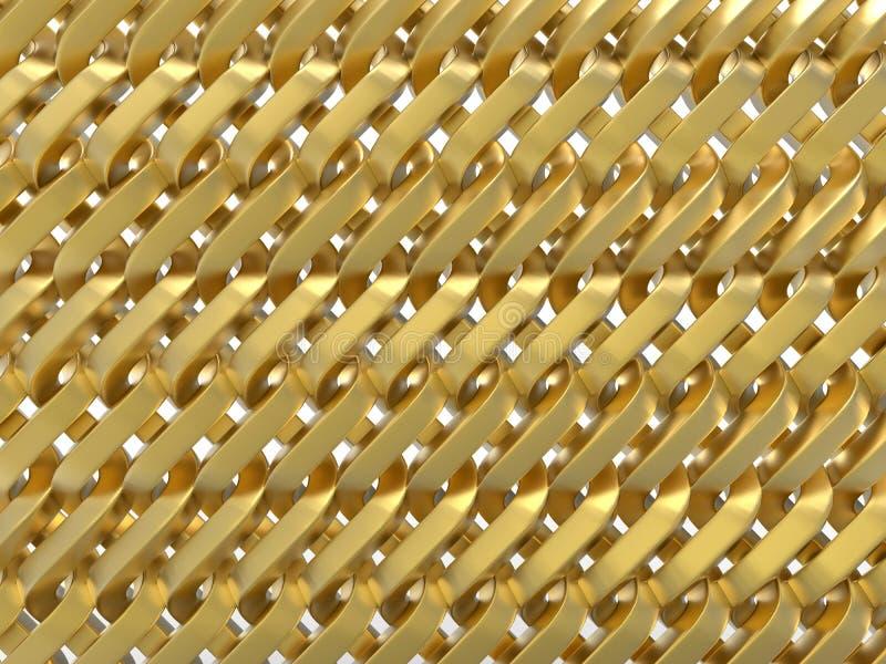Fundo abstrato tecido dourado ilustração stock