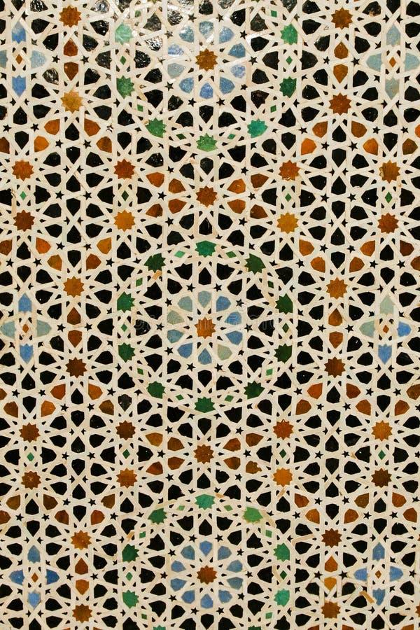 Fundo abstrato: Telha marroquina embutida colorida imagem de stock royalty free