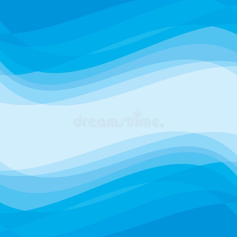 Fundo abstrato - teste padrão geométrico do vetor Ondas abstratas do azul ilustração do vetor