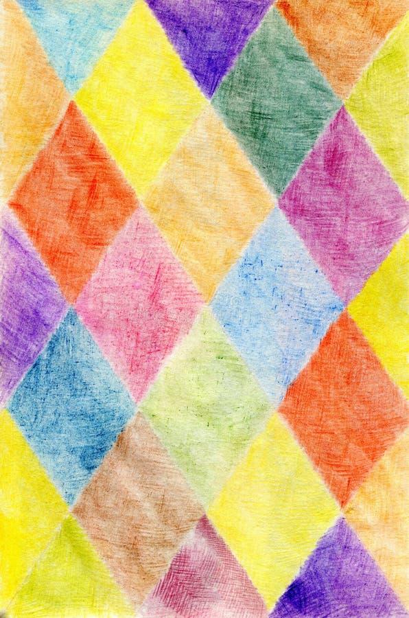 Fundo abstrato tirado com lápis coloridos, o wo do autor imagem de stock royalty free