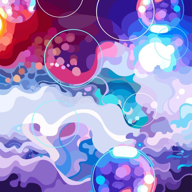 Fundo abstrato tirado do salão de baile colorido ilustração royalty free