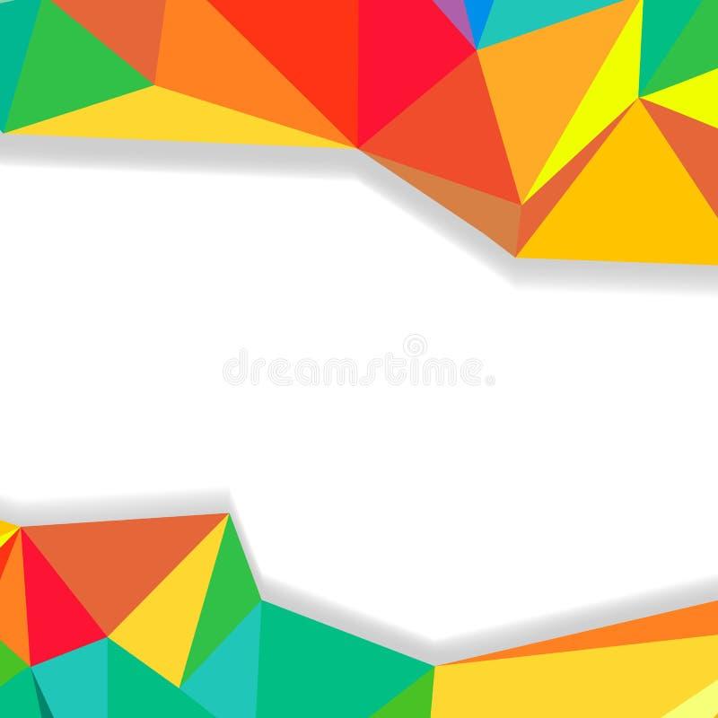 Fundo abstrato triangular, beira colorida de cristal das formas ilustração stock