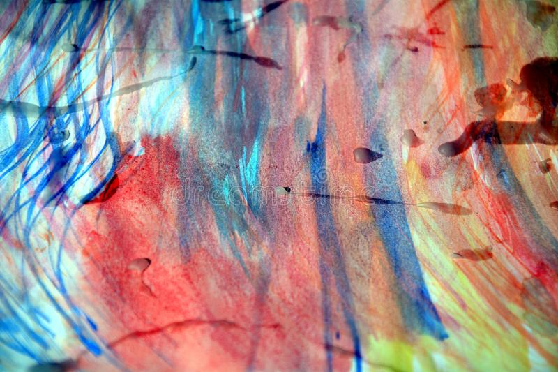 Fundo abstrato vívido pastel da aquarela e pontos cerosos fotos de stock
