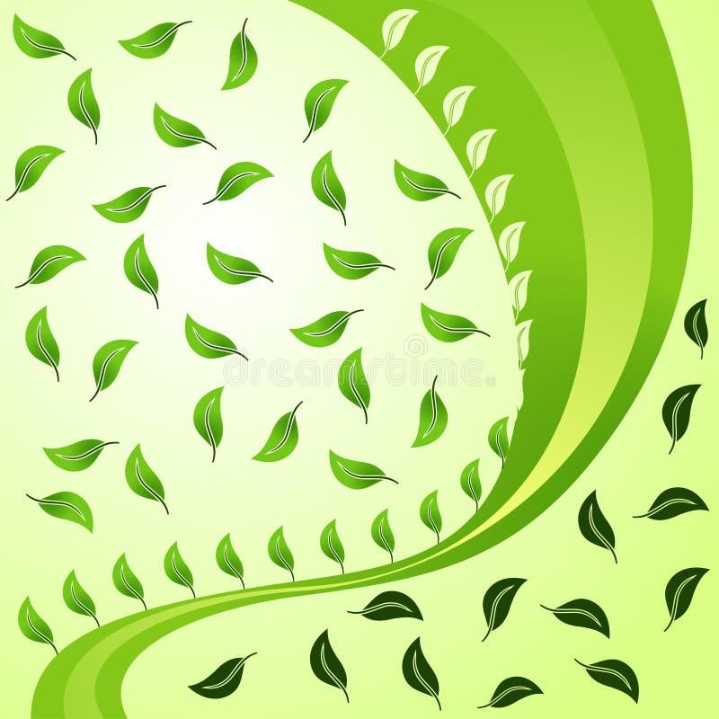 Fundo abstrato Vegetative ilustração stock