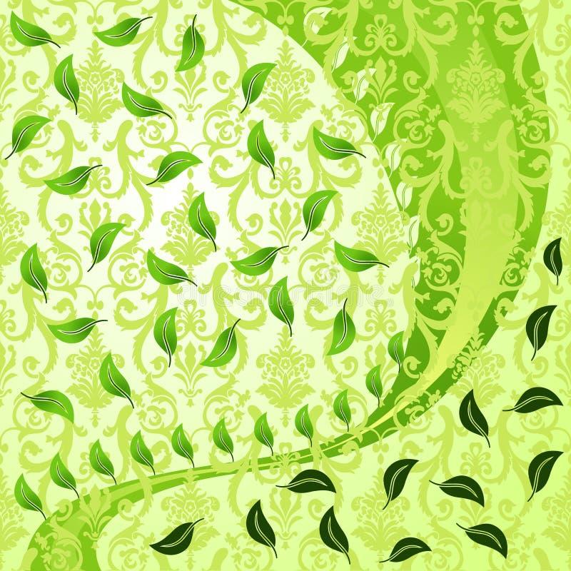 Fundo abstrato Vegetative moderno ilustração do vetor