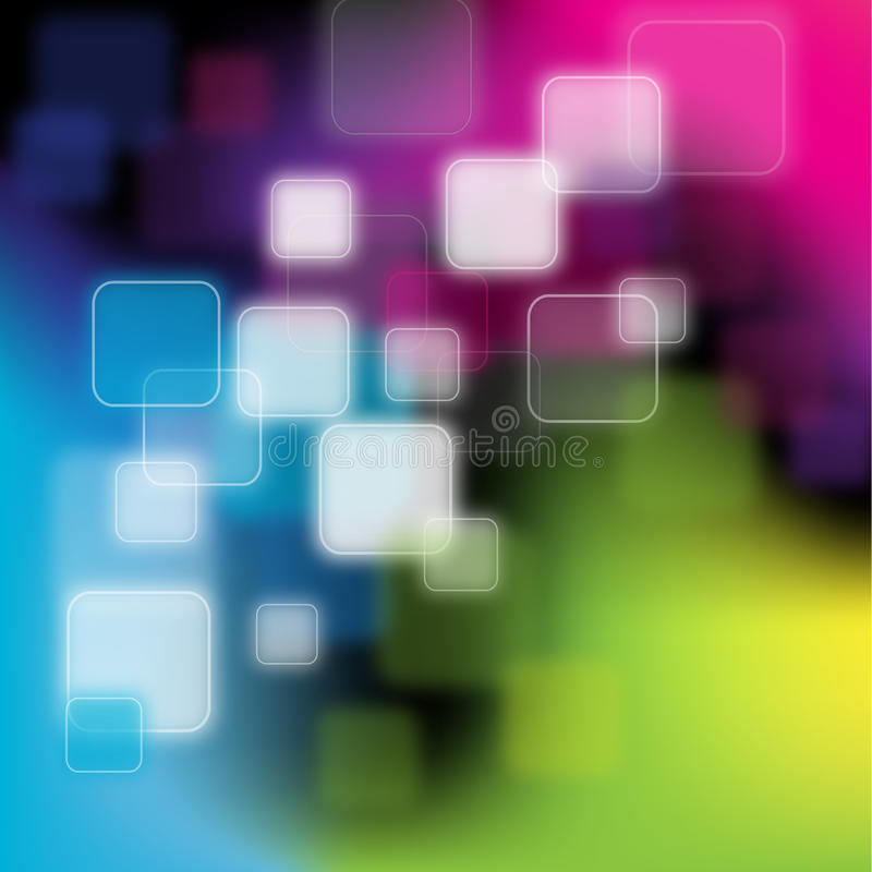 Fundo abstrato verde, azul, cor-de-rosa ilustração royalty free