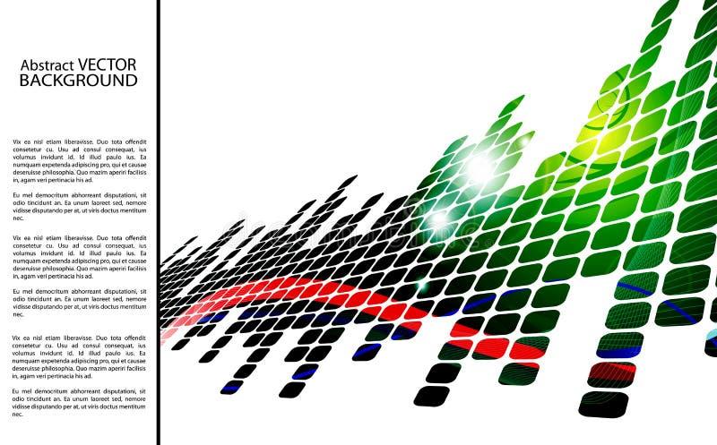 Fundo abstrato verde com quadrados ilustração stock