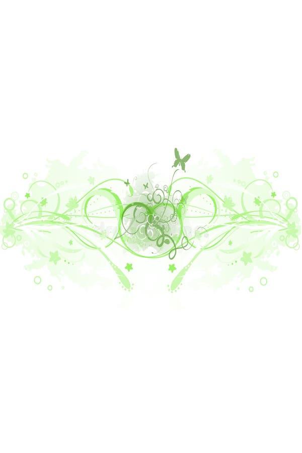 Fundo abstrato - verde da mola ilustração royalty free
