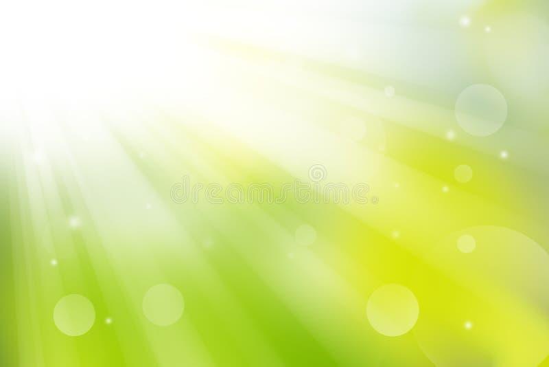 Fundo abstrato verde da natureza e da luz suave ilustração do vetor