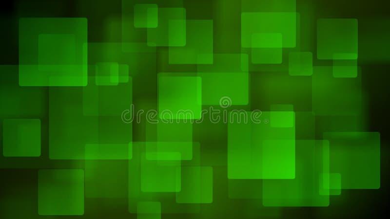 Fundo abstrato verde de quadrados obscuros ilustração do vetor