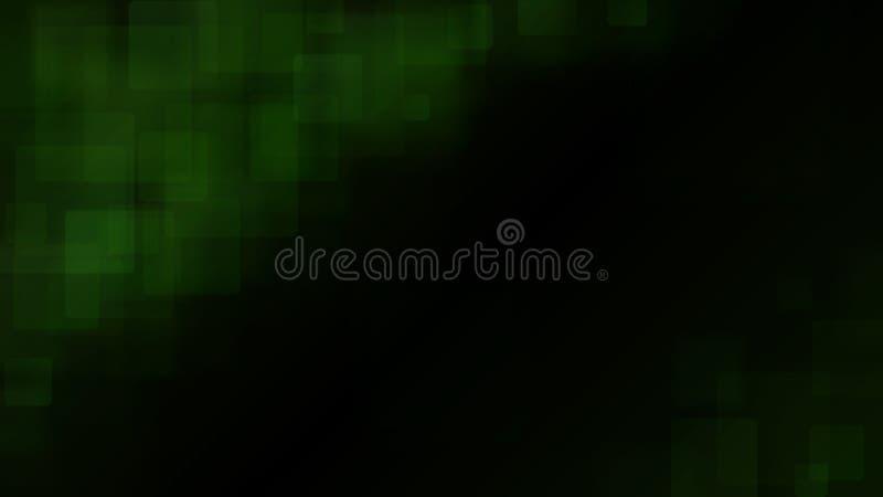Fundo abstrato verde de quadrados obscuros ilustração stock