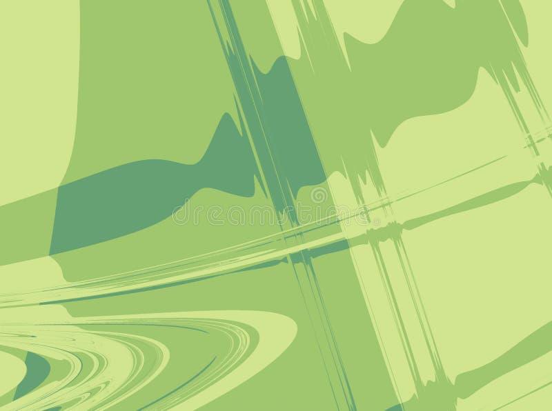 Fundo abstrato verde do fractal que simboliza a música, movimento, velocidade, som ilustração do vetor