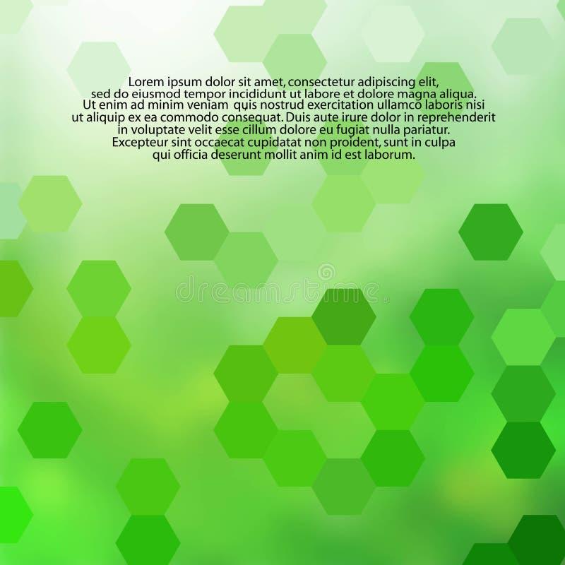 Fundo abstrato verde do vetor para anunciar favo de mel - Vektorgrafik ilustração do vetor