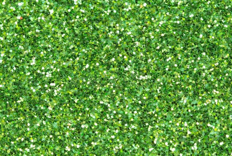 Fundo abstrato verde Foto do close up do brilho do Natal fotografia de stock royalty free