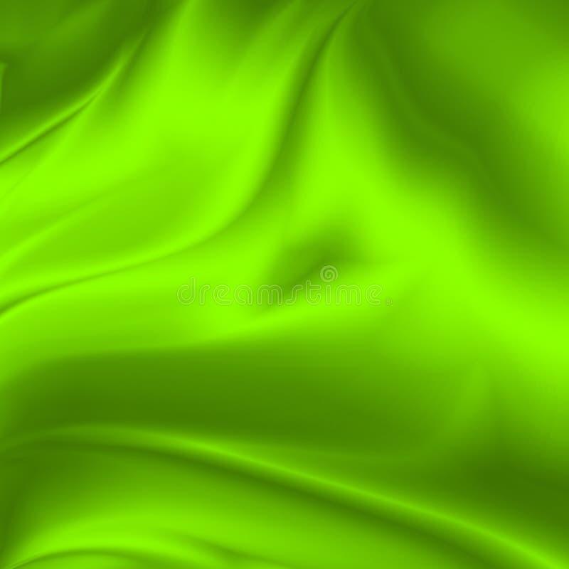 Fundo abstrato verde textura vincada da tela de seda ilustração do vetor