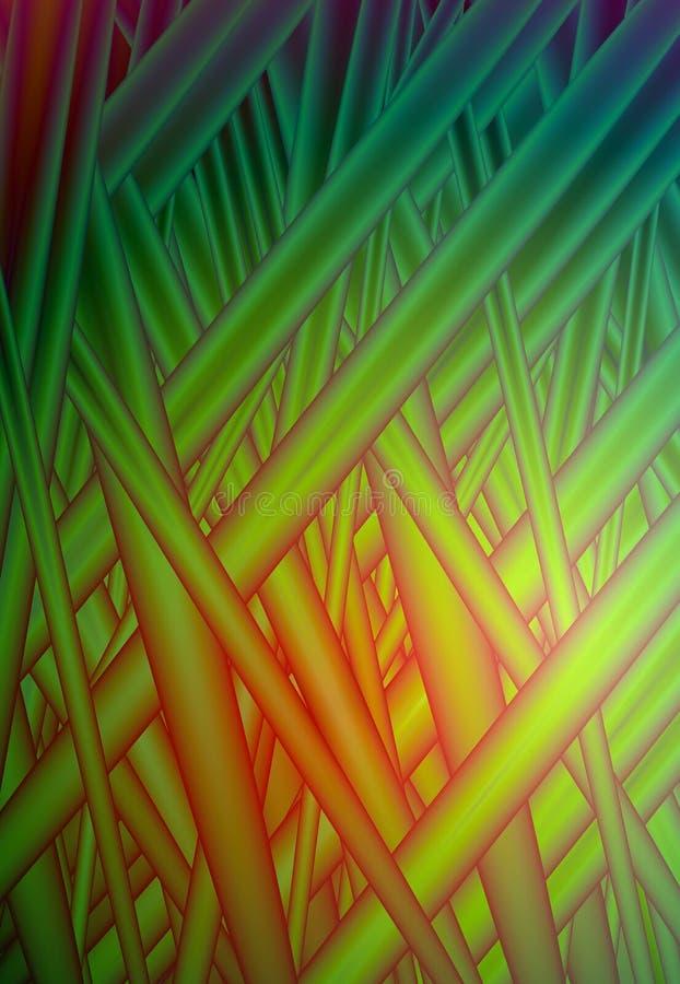 Fundo abstrato verde vívido do pulso aleatório da grama vermelha do vetor para o projeto EPS10 ilustração stock