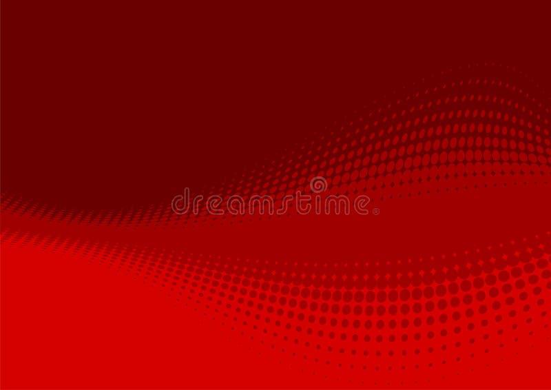 Fundo abstrato vermelho ilustração do vetor