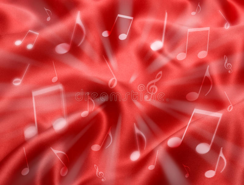 Fundo abstrato vermelho da música fotografia de stock royalty free