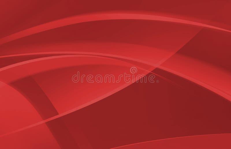 Fundo abstrato vermelho da onda ilustração stock