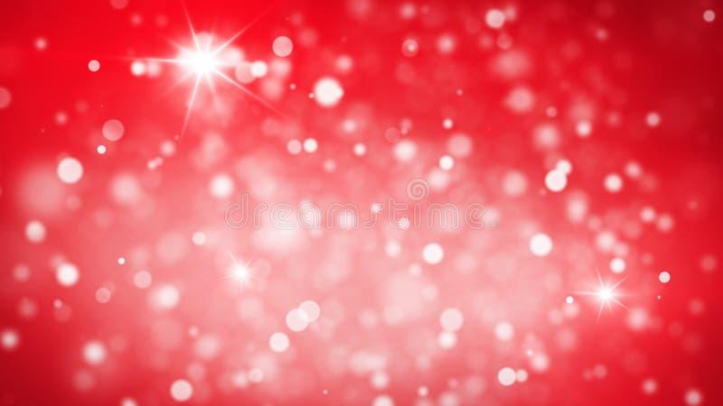 Fundo abstrato vermelho das luzes de Natal foto de stock royalty free