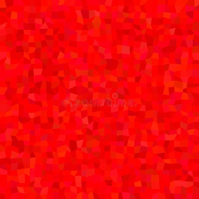 Fundo abstrato vermelho do teste padrão de mosaico do polígono - projeto poligonal do vetor dos retângulos ilustração royalty free