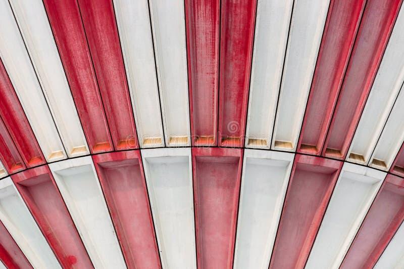 Fundo abstrato vermelho e branco imagens de stock royalty free