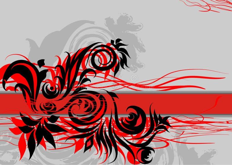 Fundo abstrato vermelho /EPS ilustração royalty free