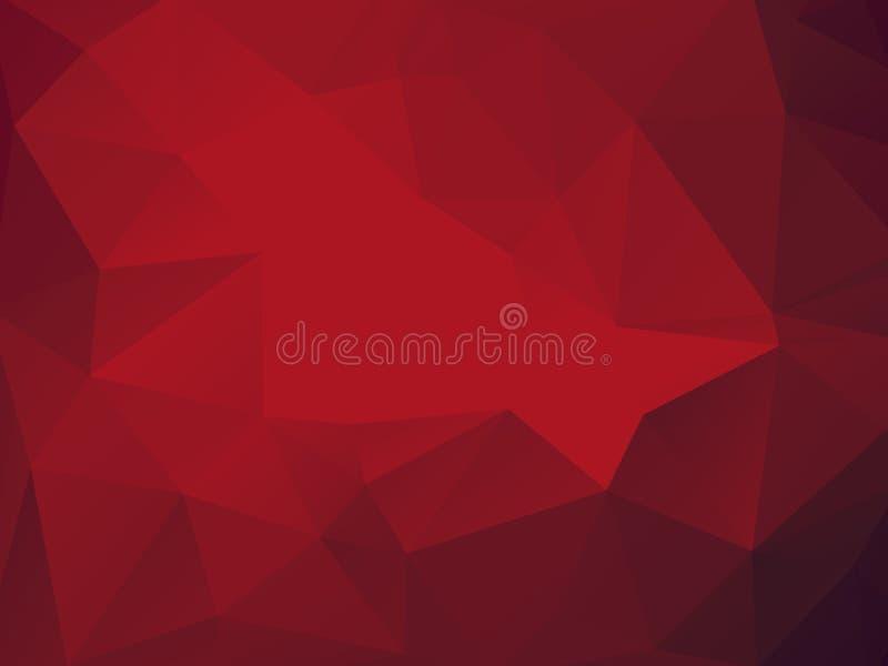 Fundo abstrato vermelho triangular ilustração stock